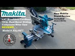 Makita Lxt 36v Cordless 10 Miter Saw Review Xsl06pt With Stand Youtube