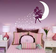 Amazon Com N Sunforest Wall Decal Vinyl Stickers Fairy Wall Decal Fairy Blowing Stars Wall Decal Fairy On Moon Wall Decal For Girl Room Baby Room Decor 28 X54 Home Kitchen
