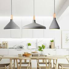 kitchen pendant light wood lamp bar