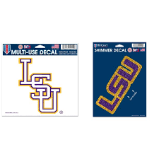 Lsu Tigers Official Ncaa Car Window Cling Decal And Shimmer Car Decal Bundle 2 Items Walmart Com Walmart Com