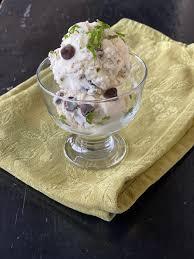 fresh mint chocolate chip ice cream