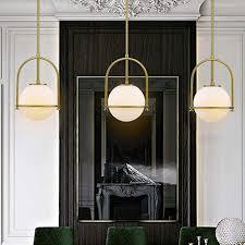 glass globe pendant light gold lms