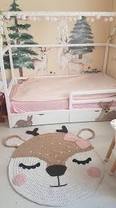 Crochet Deer Rug For Baby Room Reindeer Kids Rug Deer Nursery Etsy In 2020 Deer Nursery Decor Kids Rugs Deer Nursery