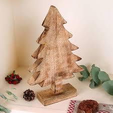 wooden christmas decoration tree