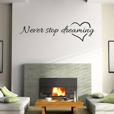 Amazon Com Wall Stickers Lood Removable Quotes Sayings Wall Sticker For Kids Living Room Home Decor Vinyl Murals Art Decal New Never Stop Dreaming Black Arts Crafts Sewing