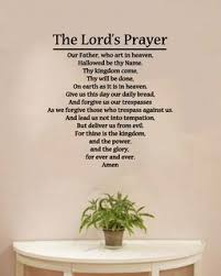 The Lord S Prayer Religious Wall Decal 20 X 21 Valuevinylart Pinklion