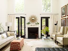 mirror over fireplace transitional