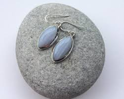 blue lace agate earrings marquise