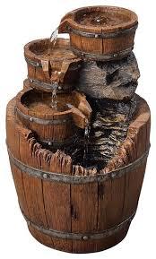 fountain wood barrels made of glazed