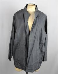 Eileen Fisher Womens Gray Linen Blend Open Front Jacket SZ 2X #EileenFisher  #BasicJacket | Open front jacket, Women, Eileen fisher