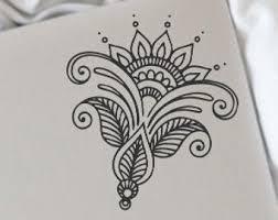 Henna Car Decal Etsy