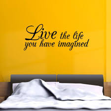 Live Imagine Life Inspirational Wall Art Sticker Decal Home Diy Decoration Wall Mural Removable Bedroom Decor Sticker 141x57cm Inspiration Home Decor Olivia Decor Decor For Your Home And Office