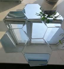 small hexagon shape wall mirror tiles