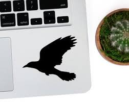 Crow Decal Etsy