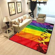 Amazon Com Pride Kids Room Home Decor Carpet People Celebrating Event Urban Life Super Large Learning And Entertainment Safety Carpet W4 X L5 Feet Kitchen Dining