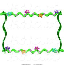cartoon vector of fl vines frame