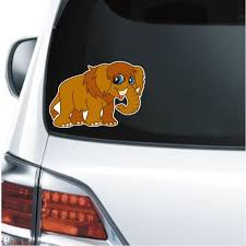 Ice Age Cartoon Mammoth Decal Sticker Custom Sticker Shop