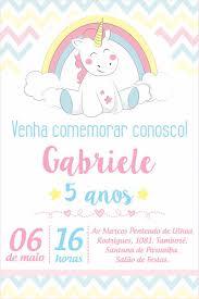 Imagen Relacionada Convites Digitais Convite Unicornio Festas