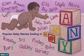 por boy and baby names ending