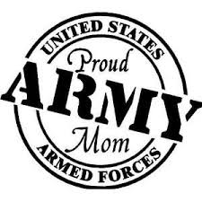 Proud Army Mom Vinyl Wall Car Decal On Popscreen