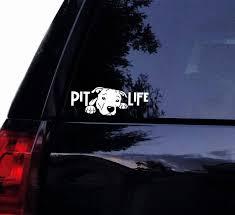 Pit Life Pitty Decal Pitbull Peeking Dog Bully Vinyl Car Etsy