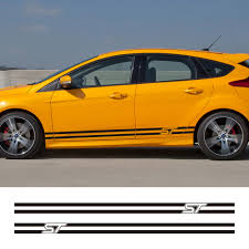 2pcs Car Side Stripe Sticker Auto Stylish Graphics Decal Vinyl Film Automobile Styling For Ford Focus St Car Tuning Accessories Car Stickers Aliexpress