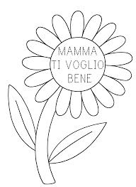 Festa della mamma da colorare | Festa della mamma, Mamma, Festa