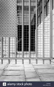 White Iron Gate And Diamond Steel Plate In Industrial Building Stock Photo Alamy
