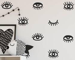 Eye Wall Decals Eyelash Decals Vinyl Wall Decals Modern Etsy Modern Wall Decals Eyelash Decal Vinyl Wall Decals