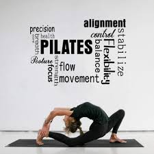 Amazon Com Pilates Wall Decal Pilates Words Exercise Fitness Alignment Gym Yoga Movement Wall Sticker Decal Home Kitchen