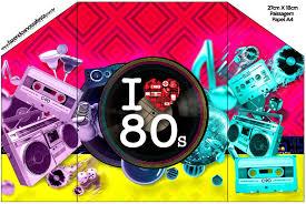 Anos 80 Invitaciones Para Imprimir Gratis Invitaciones Para