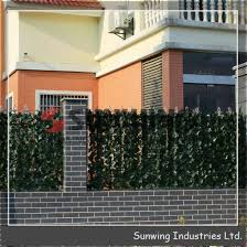 China Artificial Boxwood Privacy Wall Ivy Hedge Screening China Fence Artificial Plant