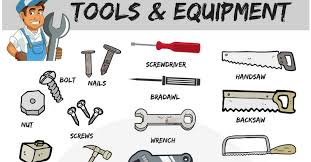 list of tools in english with pictures