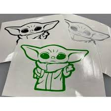 Baby Yoda Sticker The Mandalorian Baby Yoda Decal Star Wars Car Vinyl 5