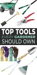 top gardening tools list the best