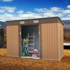 garden storage shed galvanized steel