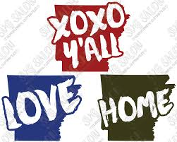 Arkansas Home Love Custom Diy Iron On Vinyl Shirt Decal Cutting File Set In Svg Eps Dxf Jpeg And Png Format