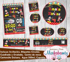Invitacion Cumpleanos Mickey Y Minnie Kit Imprimelo Tu 69 00