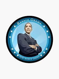 Amazon Com Barack Obama New World Order Vinyl Decal Bumper Sticker Wall Laptop Window Sticker 5 Kitchen Dining