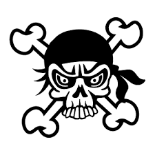 Pirate Skull Sticker 29