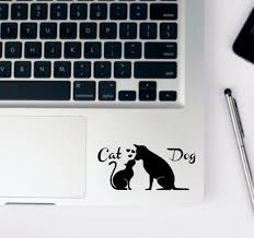 Laptop Sticker Dog Colorful Laptop Stickers For Removable Stickers Vinyl Decal Laptop Touchpad Partial Stickers Laptop Skins Aliexpress