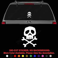 Amazon Com Death Skull Captain Harlock Space Pirate Die Cut Vinyl Decal Sticker For Car Truck Motorcycle Vehicle Window Bumper Wall Decor Laptop Helmet Size 8 Inch 20 Cm Tall Color Gloss White