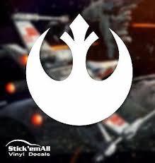 Rebel Alliance Star Wars Inspired Window Sticker Decal Stick Emall Vinyl Decals