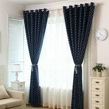 Affordable Navy Blackout Kids Polka Dot Curtains