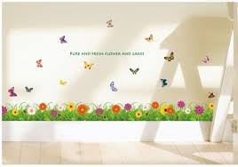 Kids Room Ideas Pure And Fresh Flower Grass Borders For Kids Rooms Butterfly Design Sweet Decals Stair Baby Wallpaper Boy Kids Room Wallpaper Boys Wallpaper