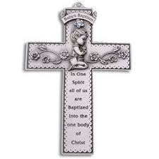 pewter baby baptism gift cross boy 31013