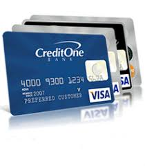 credit one bank credit cards