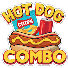 Hot Dog Combo Decal Concession Stand Food Truck Sticker Walmart Com Walmart Com