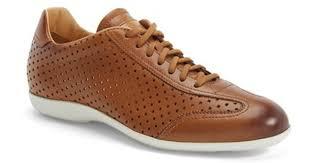 santoni tailor perforated leather