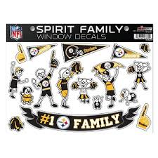 Pittsburgh Steelers Spirit Family Window Decal